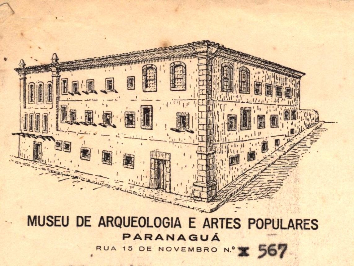 Papel timbrado usado nos primeiros anos de funcionamento do museu