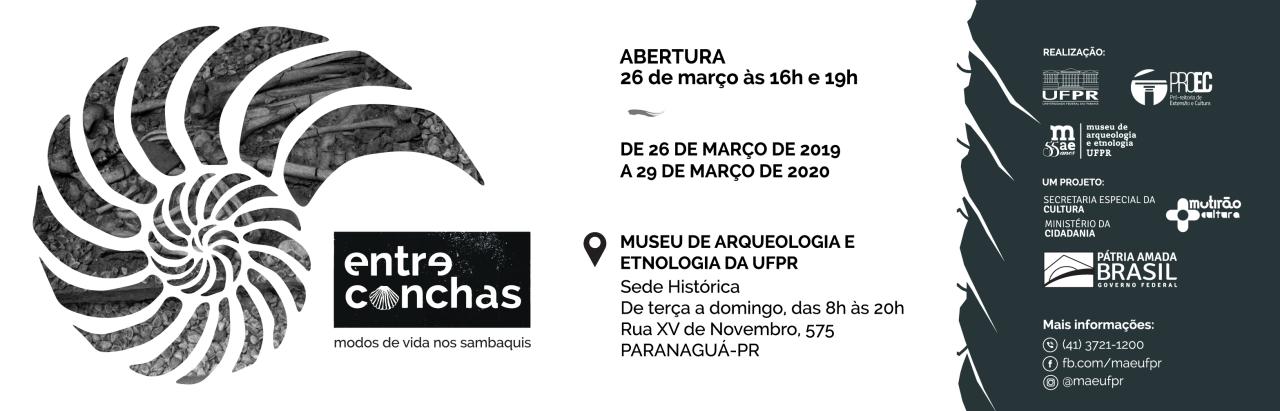 """Exposição """"Entre Conchas: Modos de Vida nos Sambaquis"""""""