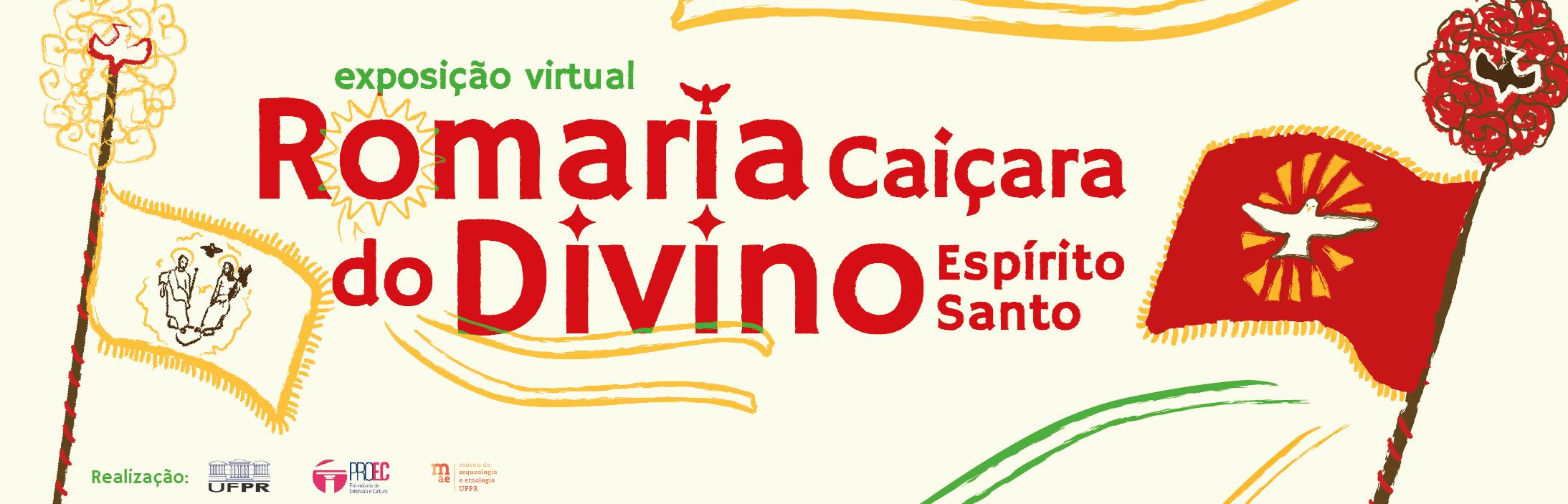 Banner Exposição Virtual Romaria Caiçara do Divino Espírito Santo